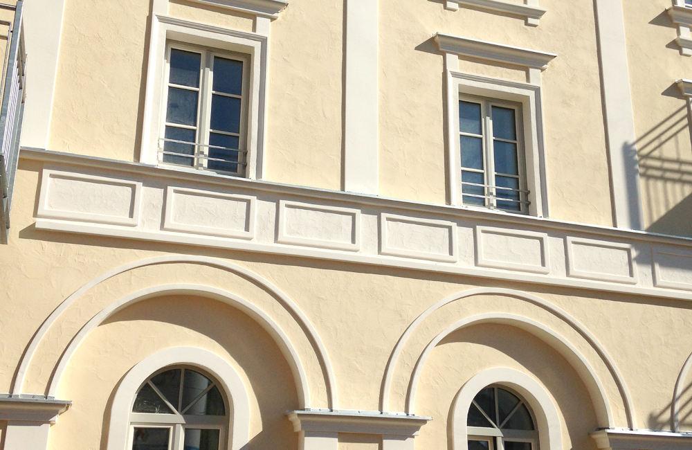 Putzarbeiten, Trostberg bei Schloss Schedling
